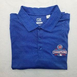 Chicago Cubs World Series Polo Shirt XL